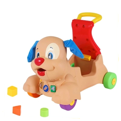 Free-Shipping-Laugh-and-N-Learn-Baby-Walker-Musical-Stride-to-Ride-Puppy-Push-Baby-Walker